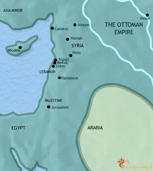 Map of Syria at 1648CE