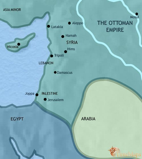 Map of Syria at 1837CE