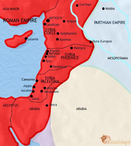 Map of Syria at 200CE