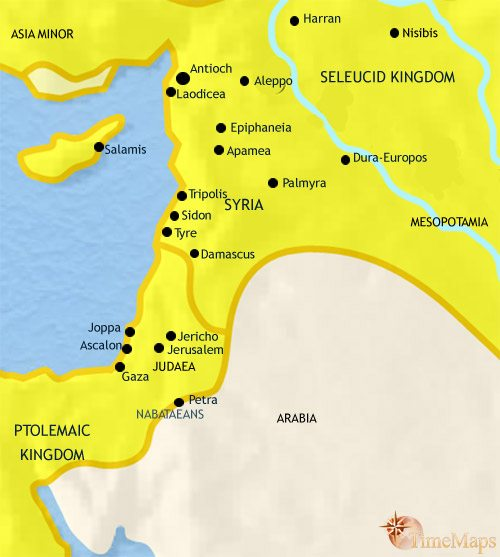 Map of Syria at 200BCE