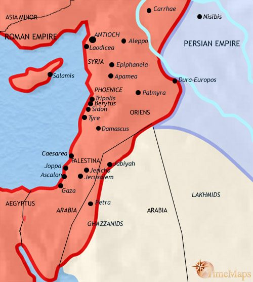 Map of Syria at 500CE