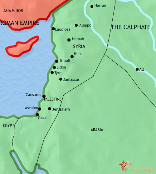 Map of Syria at 750CE