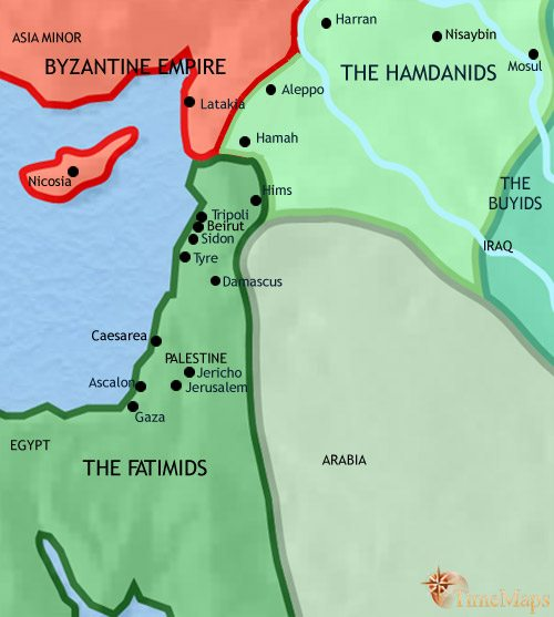 Map of Syria at 979CE