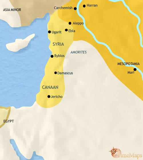 Map of Syria at 2500BCE