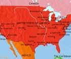 Map of The USA at 1914CE