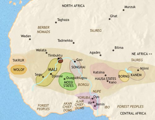 Map of West Africa at 1453CE