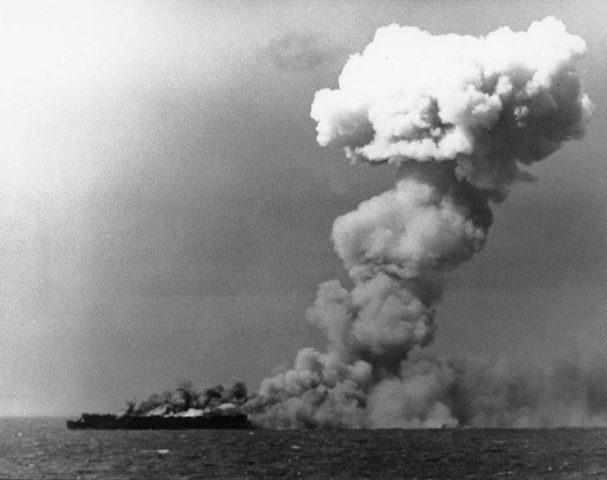 The US Navy light-burning