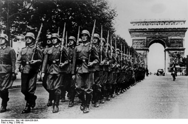 German-soldiers-parade-on-the-champs-elysees-1940