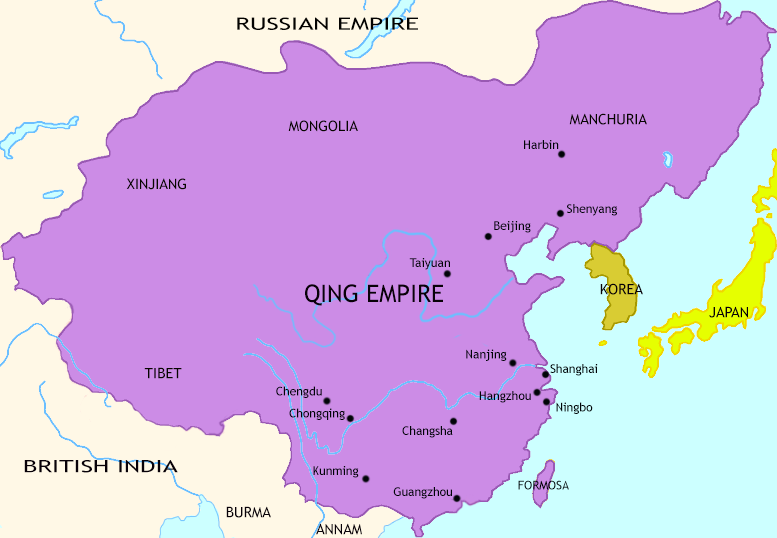 Map of The Last Century of Imperial China at 1760CE